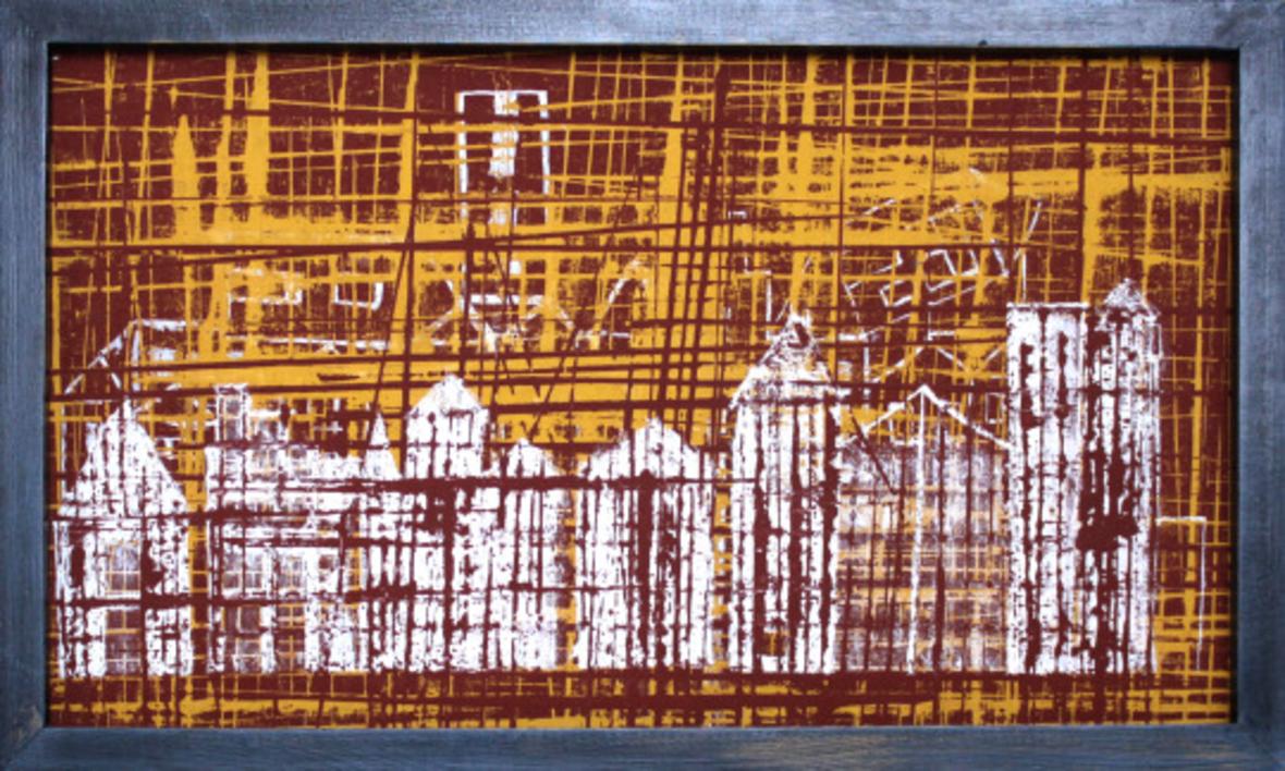 Downtown |Pintura de Antonio  Vázquez | Compra arte en Flecha.es