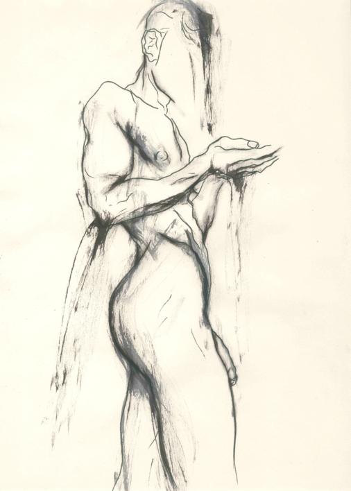 A Man getting the shower  Ilustración de Valero   Compra arte en Flecha.es
