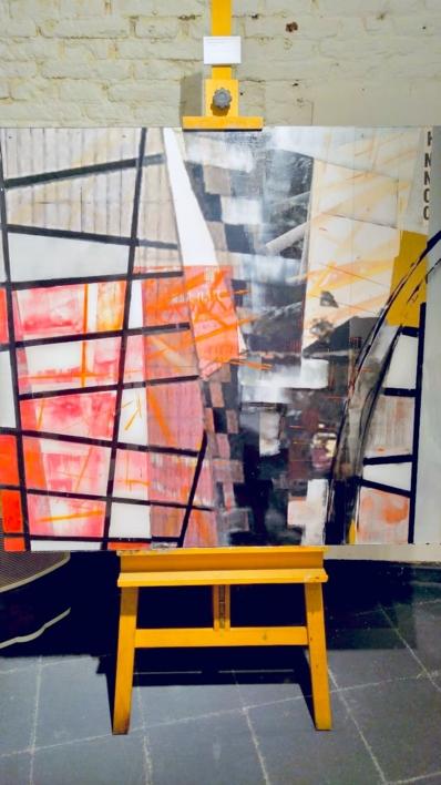 CONSTRUCCIONES II |Pintura de Erika Nolte | Compra arte en Flecha.es