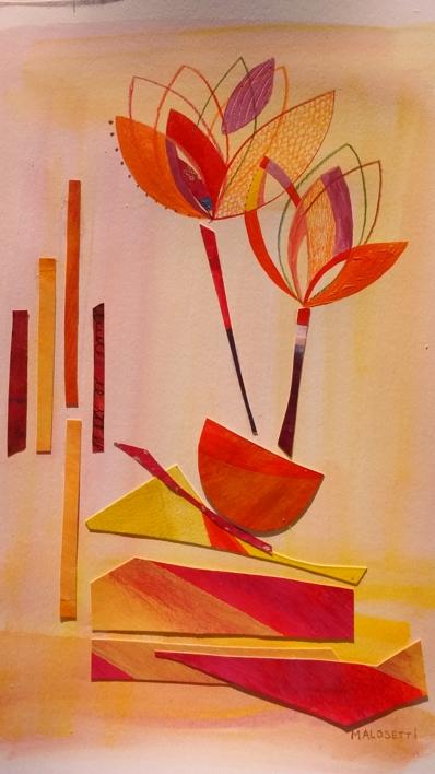 S/T de la Serie Natura Inspira |Collage de ANALIA MALOSETTI | Compra arte en Flecha.es