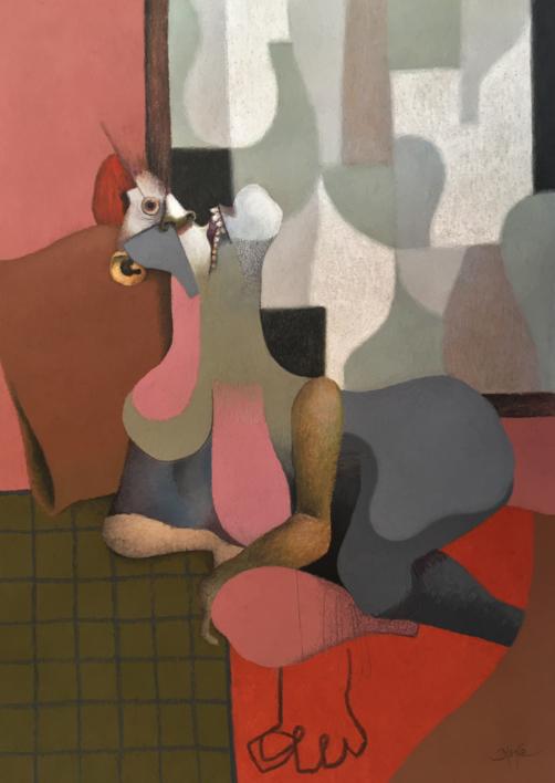Prostituta de Lugo |Ilustración de Carlos Blanco Artero | Compra arte en Flecha.es