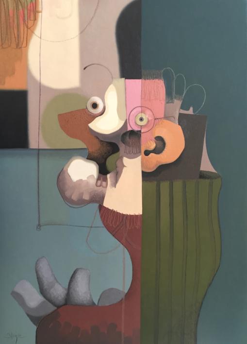 Popper-man |Ilustración de Carlos Blanco Artero | Compra arte en Flecha.es