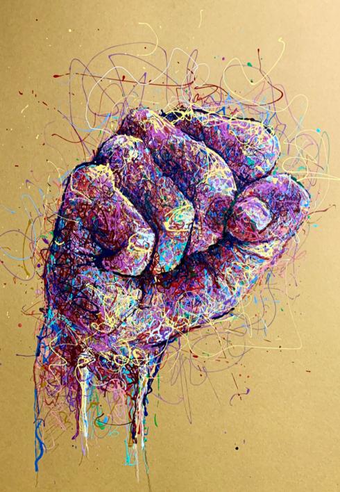 Fist |Pintura de Baon | Compra arte en Flecha.es