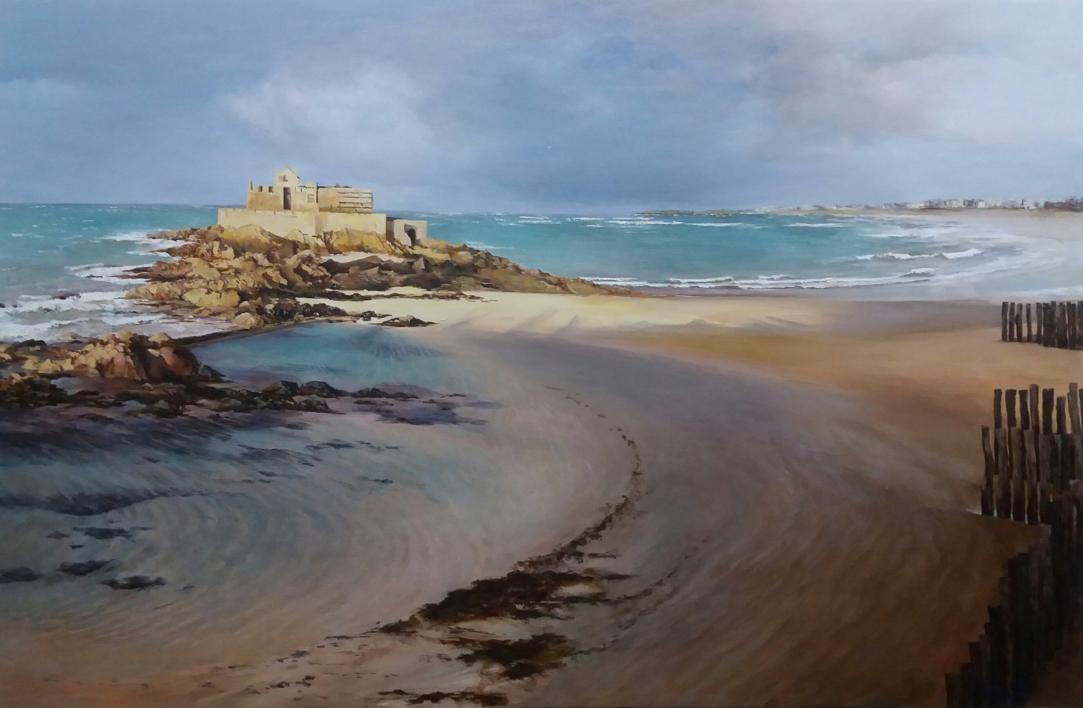 Saint Malo-atardecer |Pintura de Carmen Nieto | Compra arte en Flecha.es