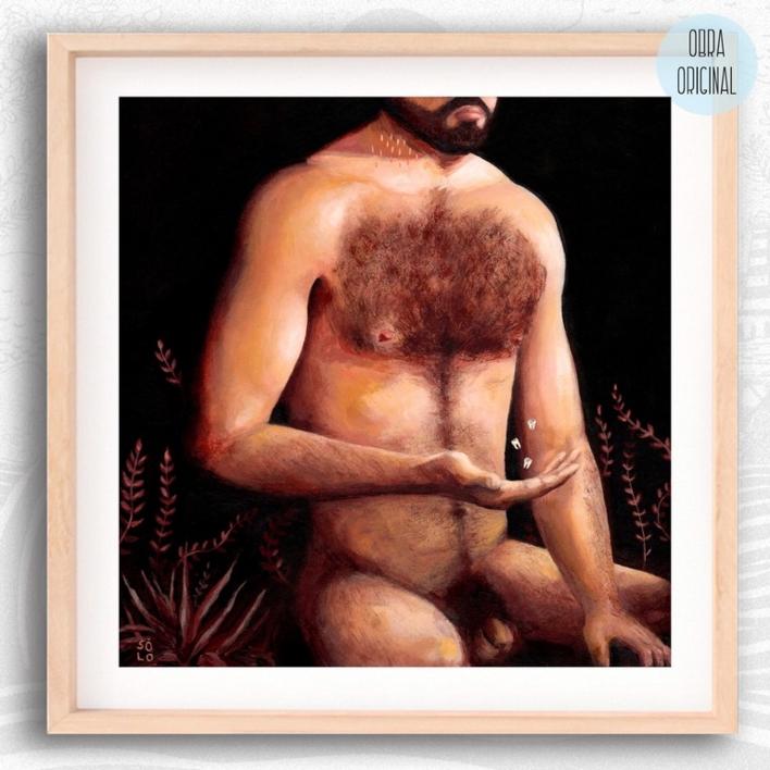 Solo (autorretrato) |Pintura de Bran Sólo | Compra arte en Flecha.es