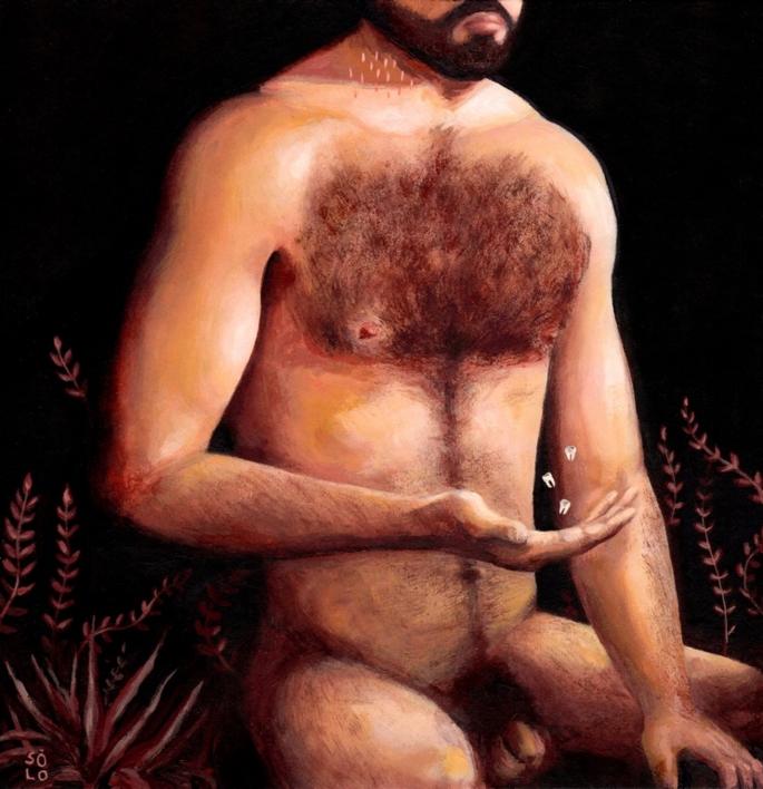 Solo (autorretrato) | Pintura de Bran Sólo | Compra arte en Flecha.es