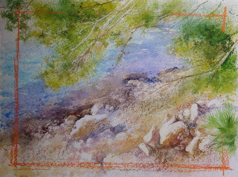 PUERTO POLLENSA |Pintura de ÁNGELES CERECEDA | Compra arte en Flecha.es