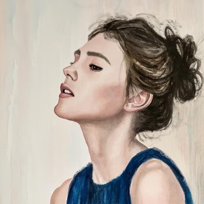 La espera   Pintura de EVA GONZALEZ MORAN   Compra arte en Flecha.es