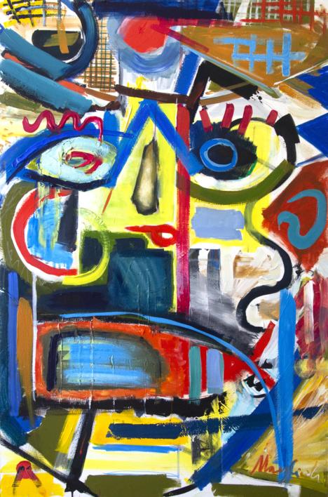 Between Dream And Archetype Woman In The Hat |Pintura de Maciej Cieśla | Compra arte en Flecha.es