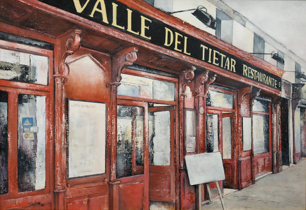 Valle del Tietar- Restaurante (Madrid)  Pintura de TOMAS CASTAÑO   Compra arte en Flecha.es