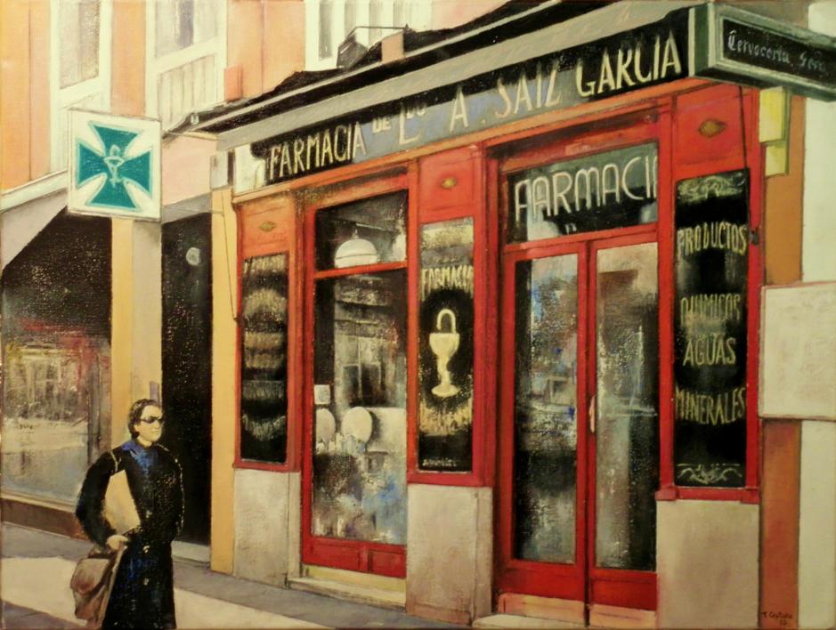 Farmacia Ldo. A. Saiz-Madrid |Pintura de TOMAS CASTAÑO | Compra arte en Flecha.es
