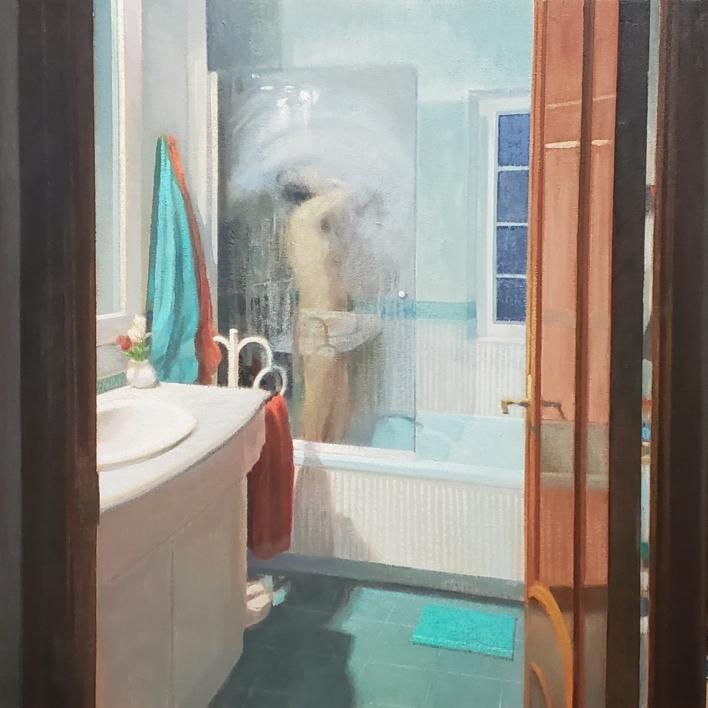 La ducha |Pintura de Orrite | Compra arte en Flecha.es