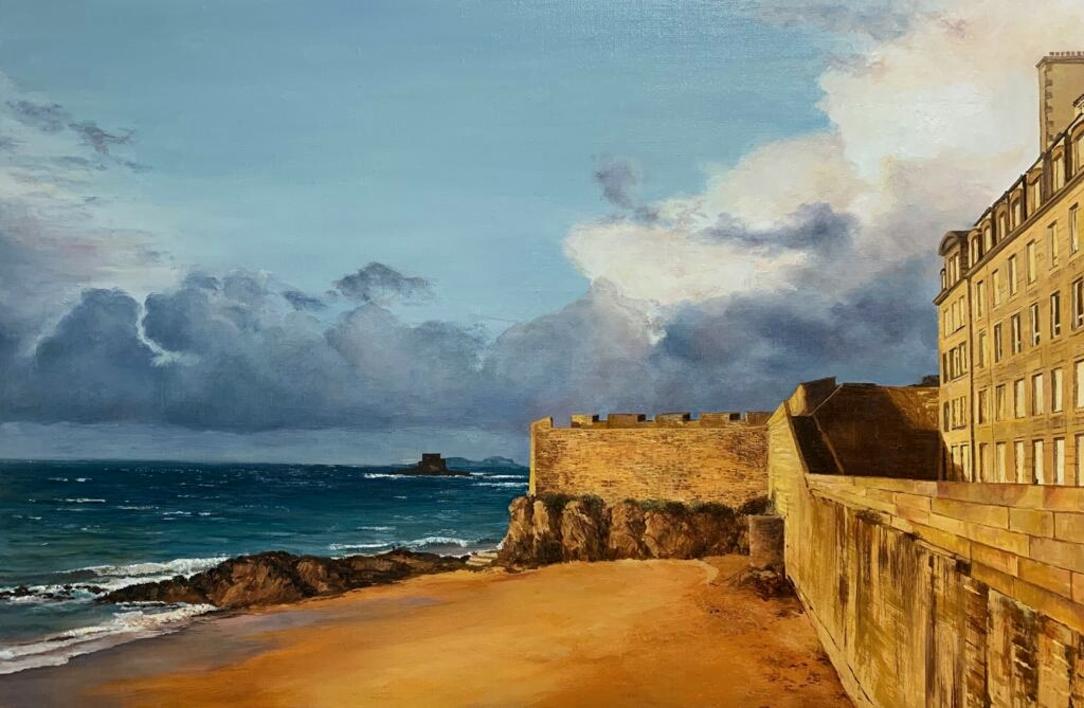 Saint Malo al atardecer  Pintura de Carmen Nieto   Compra arte en Flecha.es