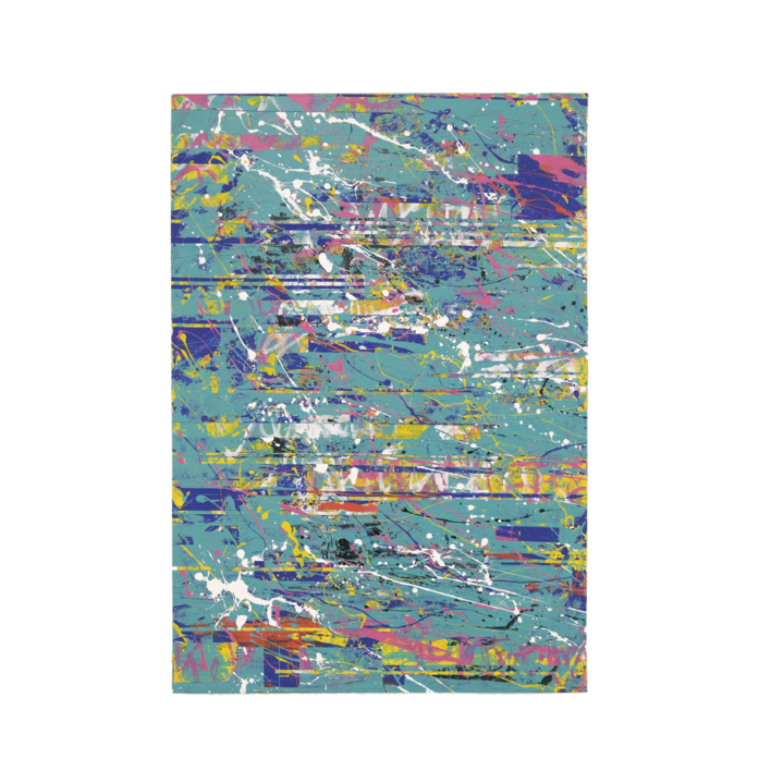 Green Interferences |Pintura de Ana Dévora | Compra arte en Flecha.es