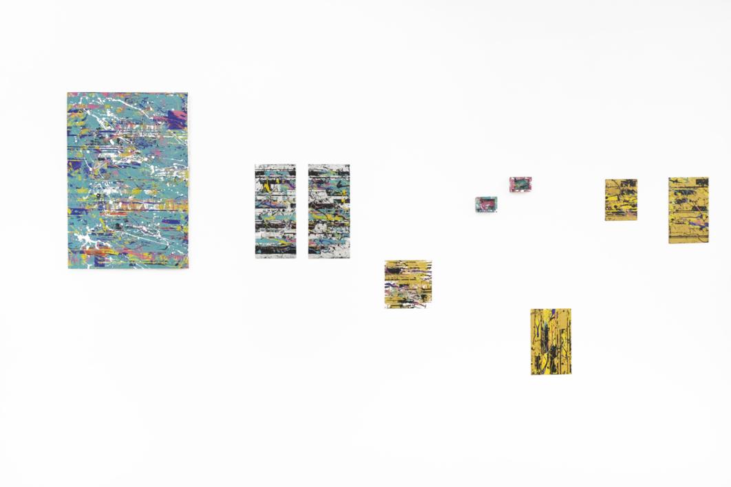 Green Interferences | Pintura de Ana Dévora | Compra arte en Flecha.es