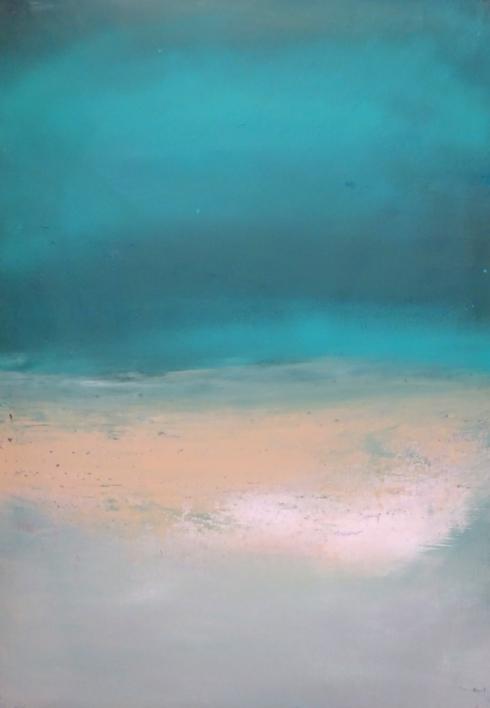 Azul en una noche tranquila |Pintura de Esther Porta | Compra arte en Flecha.es