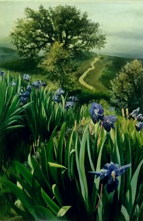 Naturaleza-lirios |Pintura de Carmen Nieto | Compra arte en Flecha.es