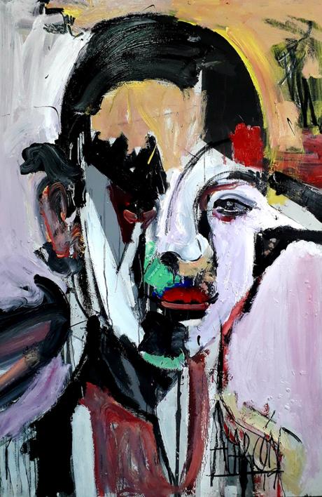 La Negra Flor |Pintura de FRANCISCO ALARCÓN | Compra arte en Flecha.es