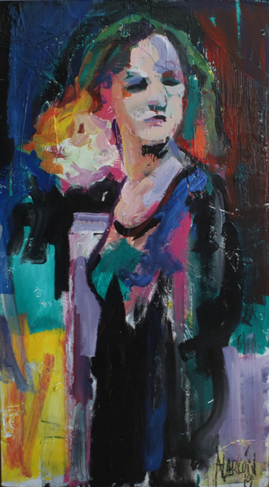 La Galerista Pelirroja |Pintura de FRANCISCO ALARCÓN | Compra arte en Flecha.es