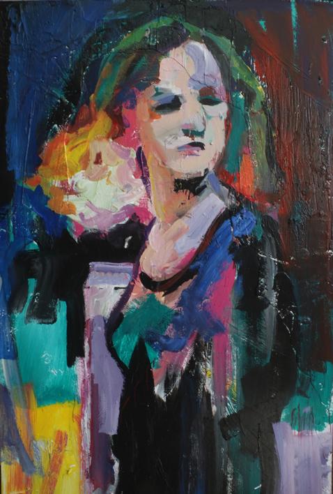 La Galerista Pelirroja | Pintura de FRANCISCO ALARCÓN | Compra arte en Flecha.es