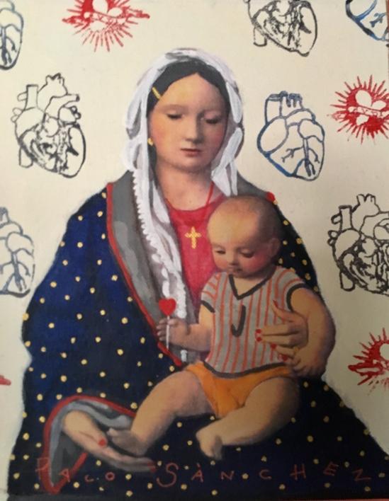 Virgen Guapa del Corazón de Maria |Pintura de Paco Sánchez | Compra arte en Flecha.es
