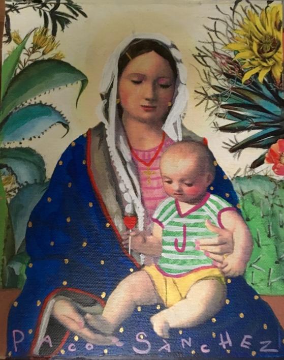 Virgen Guapa tropical |Pintura de Paco Sánchez | Compra arte en Flecha.es