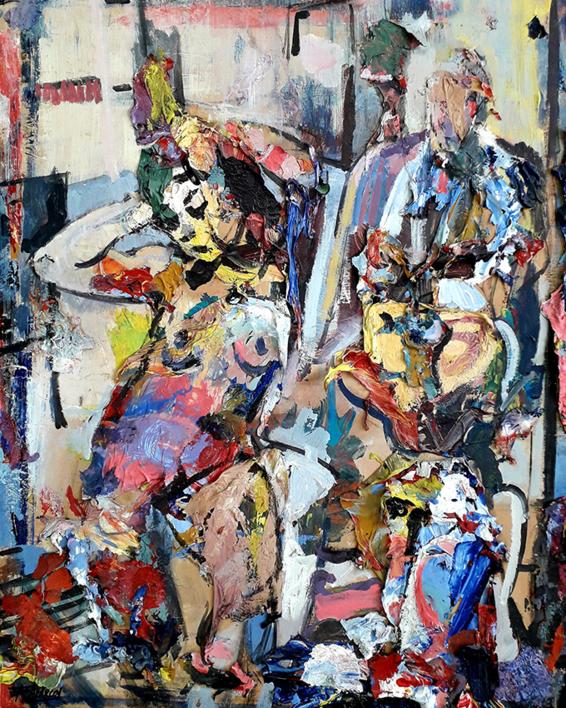La musa y el pintor |Collage de FRANCISCO ALARCÓN | Compra arte en Flecha.es