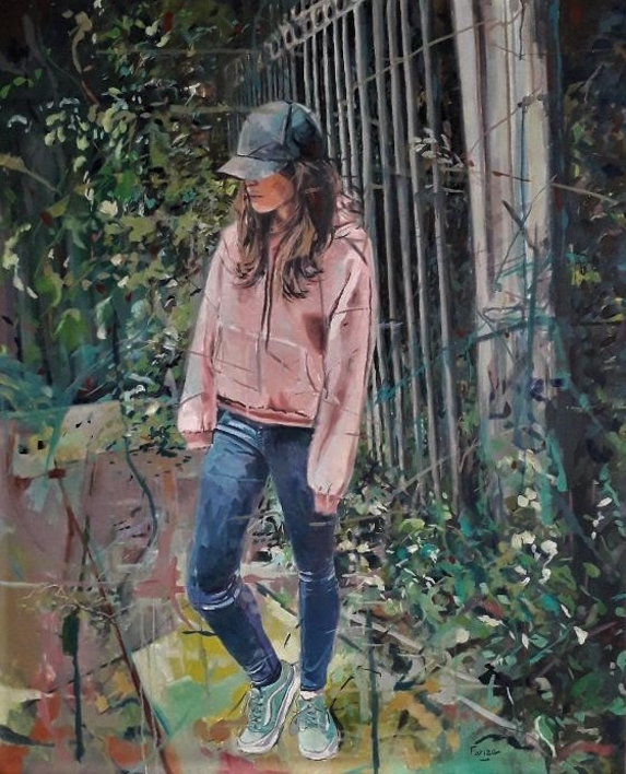 Pensando |Pintura de Amaya Fernández Fariza | Compra arte en Flecha.es