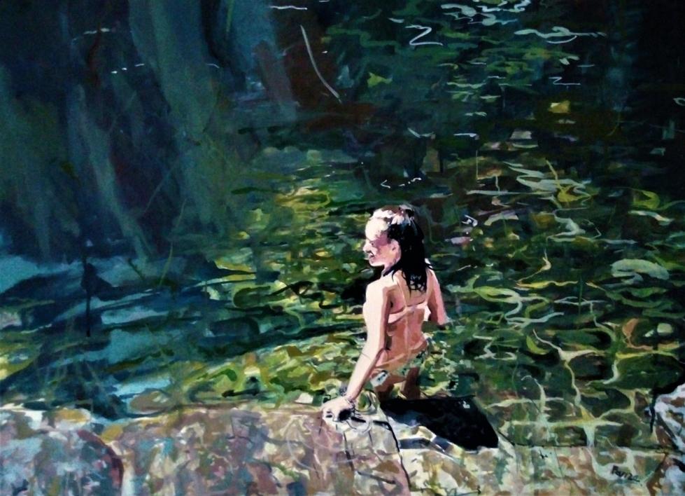 En el agua |Pintura de Amaya Fernández Fariza | Compra arte en Flecha.es