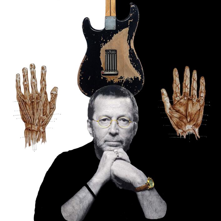 Eric Clapton |Collage de Gabriel Aranguren | Compra arte en Flecha.es