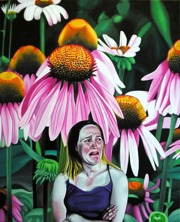¡Tengo un disgusto! |Pintura de Silvia Viana | Compra arte en Flecha.es