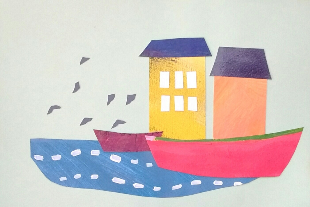 Desde la costa |Collage de ANALIA MALOSETTI | Compra arte en Flecha.es