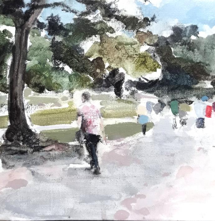 Nara no aki |Pintura de Saracho | Compra arte en Flecha.es