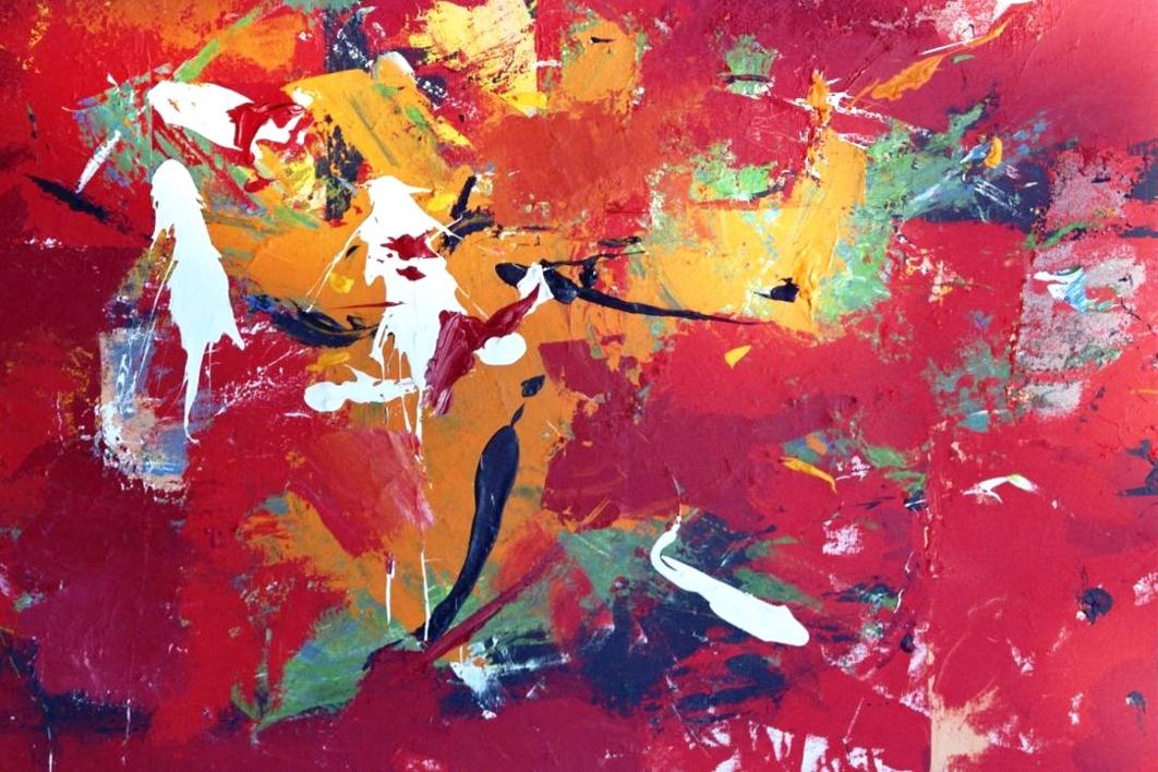Vermell |Pintura de Enrique Pazos | Compra arte en Flecha.es