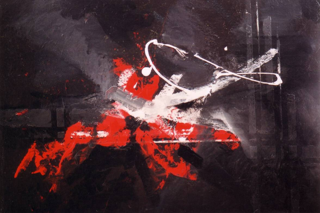 Expressionism in black & red  Pintura de Enrique Pazos   Compra arte en Flecha.es