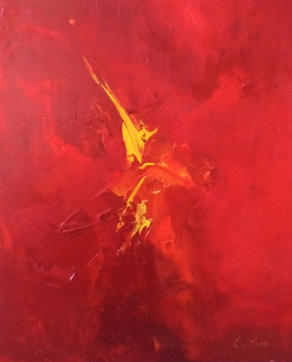 Tensiones en rojo  Pintura de Enrique Pazos   Compra arte en Flecha.es
