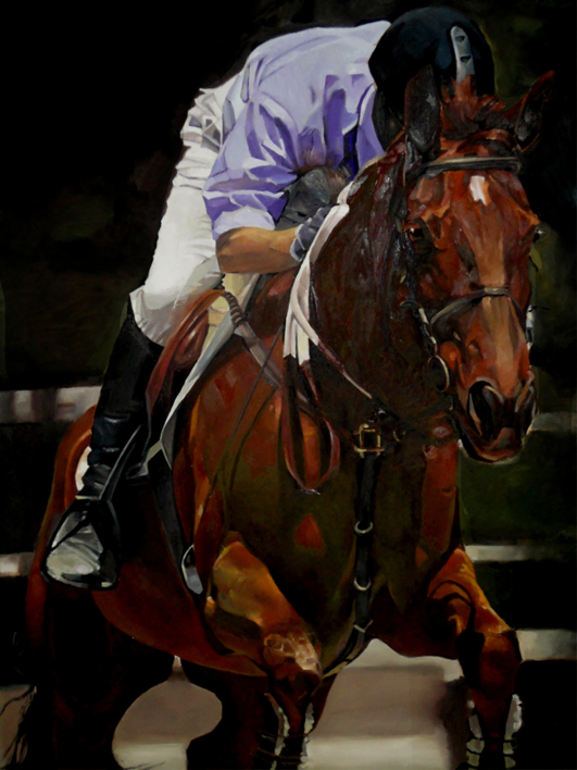 Salvando obstáculos |Pintura de Enrique Pazos | Compra arte en Flecha.es