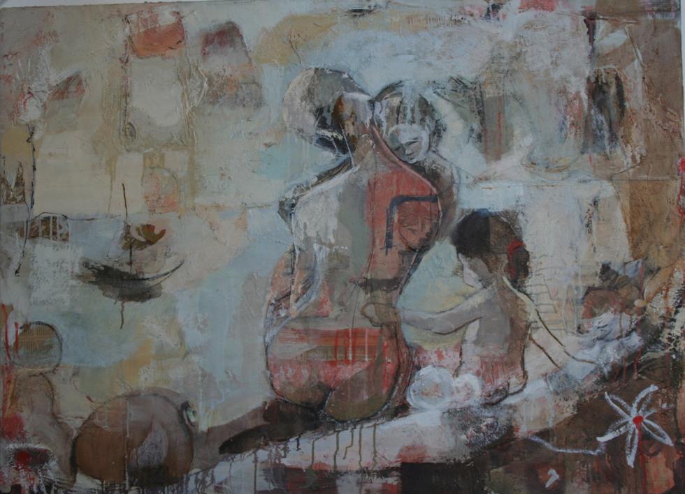 Maternidad |Collage de Calonje | Compra arte en Flecha.es