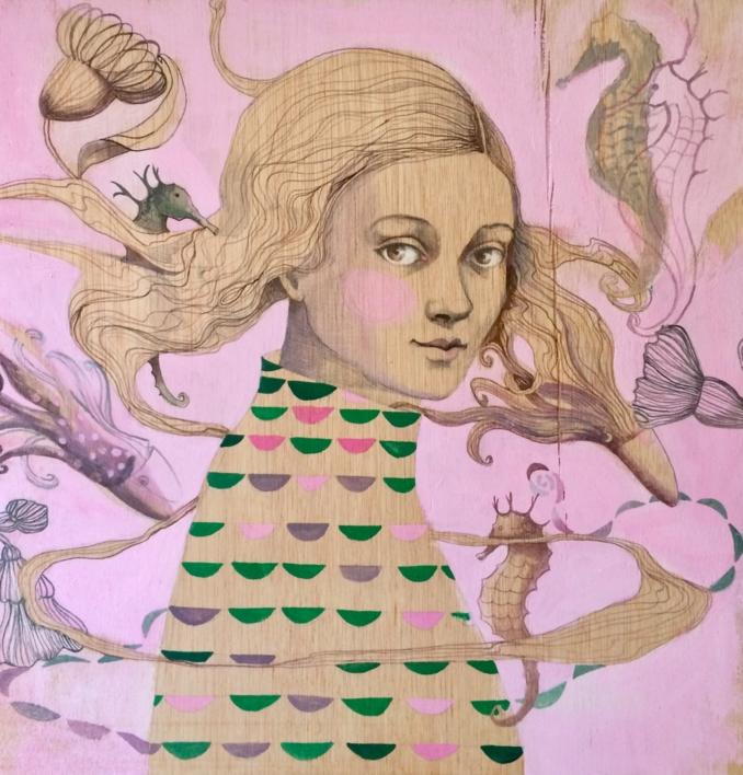 Mar habitado I |Dibujo de Menchu Uroz | Compra arte en Flecha.es