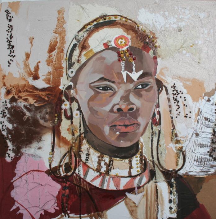 Mujer Africana |Collage de Calonje | Compra arte en Flecha.es