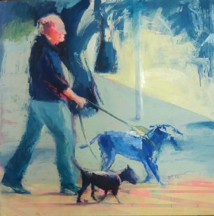 El paseo |Pintura de Pilar Álvarez | Compra arte en Flecha.es