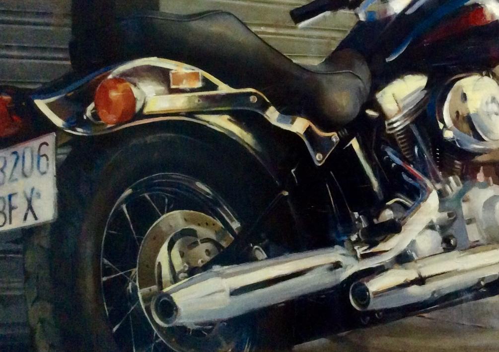 Protagonista de la acera |Pintura de Enrique Pazos | Compra arte en Flecha.es