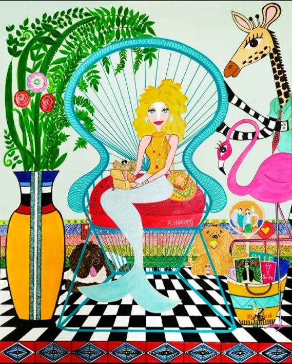 Sirena Sujey |Pintura de Ángela Fernández Häring | Compra arte en Flecha.es