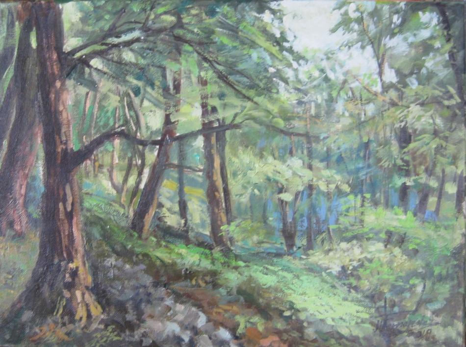 bosques de la serie de los Apalaches EEUU  Pintura de jose luis fernandez sanchez   Compra arte en Flecha.es