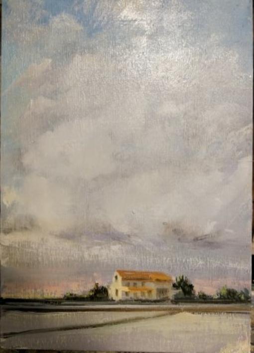 Arrozales |Pintura de jose luis fernandez sanchez | Compra arte en Flecha.es