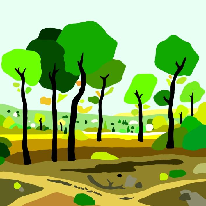 El pinar |Dibujo de ALEJOS | Compra arte en Flecha.es