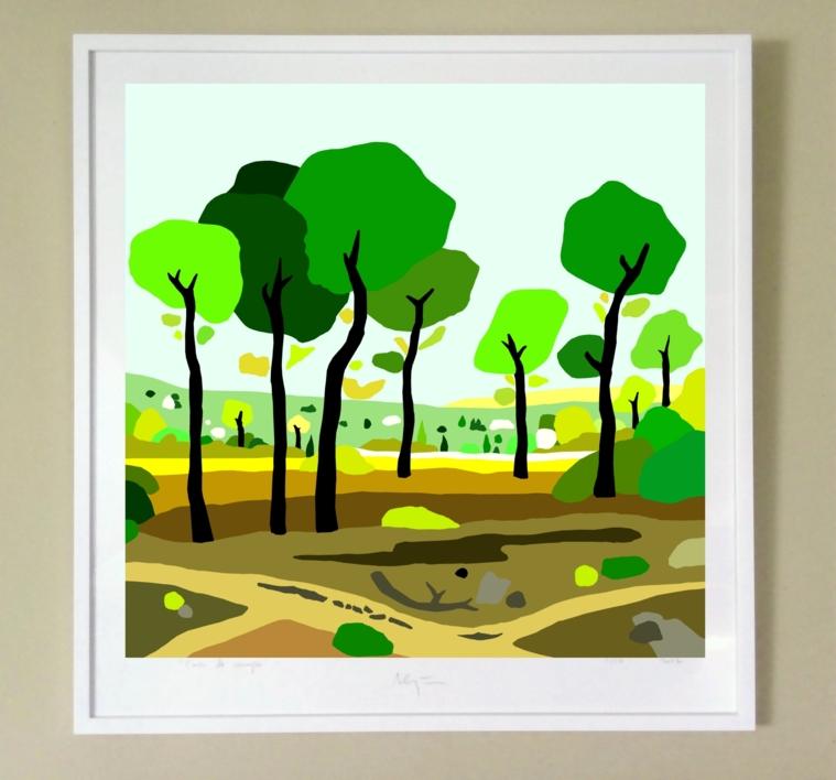 El pinar | Dibujo de ALEJOS | Compra arte en Flecha.es