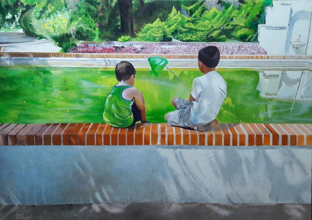 ATRAPANDO AL REY |Pintura de ENRIQUE RAGEL | Compra arte en Flecha.es