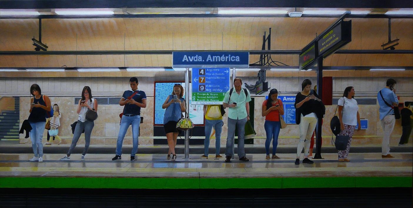 EL TRANSBORDO  Pintura de ENRIQUE RAGEL   Compra arte en Flecha.es
