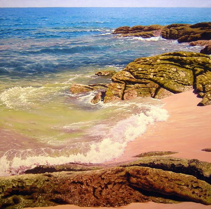 Islas Cies |Pintura de Tomás Guzmán | Compra arte en Flecha.es